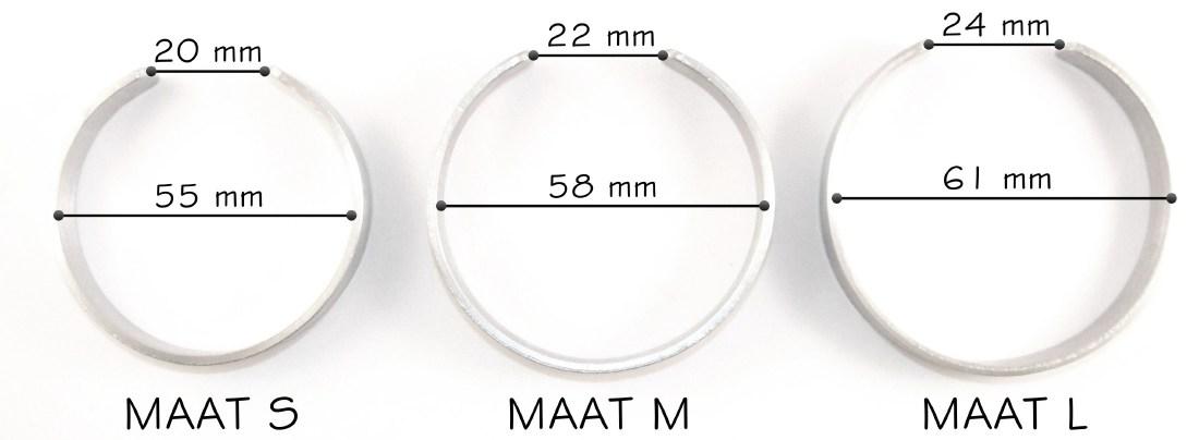 Maat ronde modellen tekst armbanden