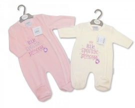 Tiny Baby velours CREME couveusepakje Little Sparkle Princess Nieuw maat 50-56