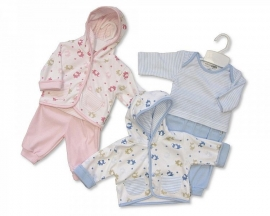 Nursery Time 3 delig BLUE Elephants  Nieuw maat 50-56