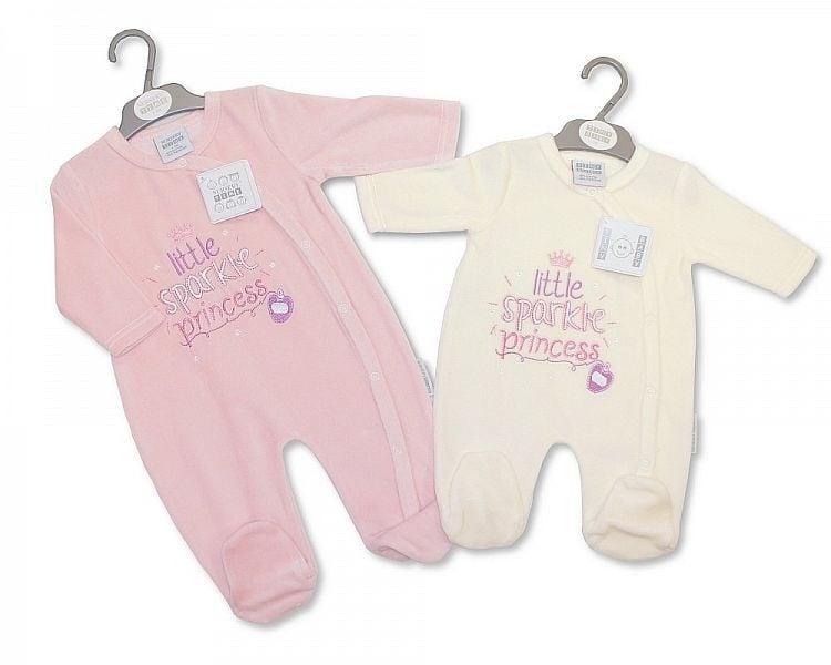 Tiny Baby velours CREME couveusepakje Little Sparkle Princess Nieuw maat 50-56