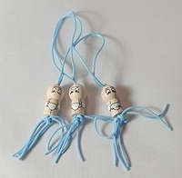 Gelukspoppetje baby blauw, per stuk