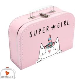 Kinderkoffertje met Rompertje Supergirl