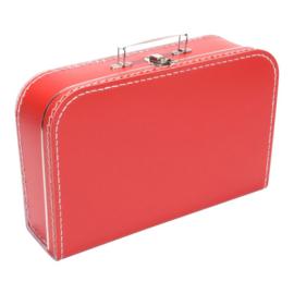 Rood koffertje 35cm