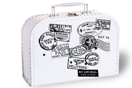 Suitcases stamps with names
