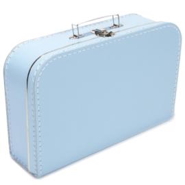 Licht blauw koffertje 35cm