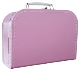 Roze koffertje 25cm