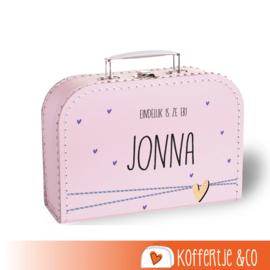 Koffertjes met naam en figuurtje
