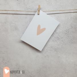 Hart kaart | handgeschreven