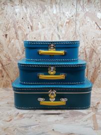 Patrol met geel handvat - koffersetje 25-30-35 cm