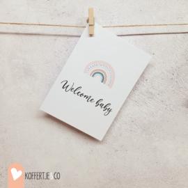 Welcome baby kaart | handgeschreven