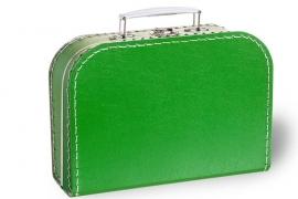 Gras groen koffertje 25cm