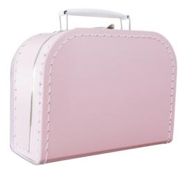 Baby Roze kartonnen koffertje 20cm