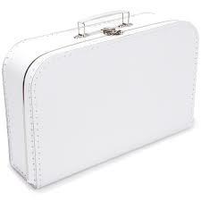 Wit koffertje 35cm