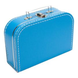 Aquablauw koffertje 25cm