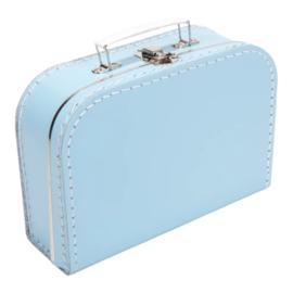 Baby Blauw kartonnen koffertje 20cm