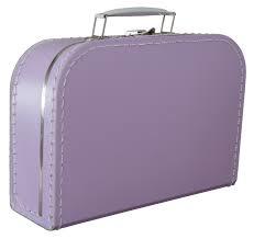 Lila koffertje 25cm