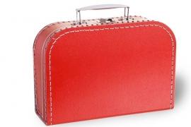 Rood koffertje 25cm