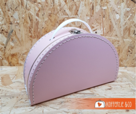 Halfrond baby roze koffertje