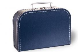 Donker blauw koffertje 25cm