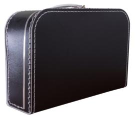 Zwart koffertje 35cm