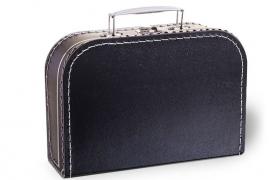 Zwart koffertje 25cm