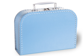 Licht blauw koffertje 25cm