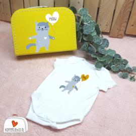 Kinderkoffertje met Rompertje Kat