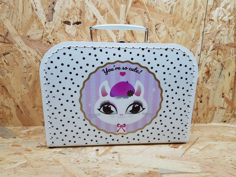 You're so cute - koffertje met print 25 cm