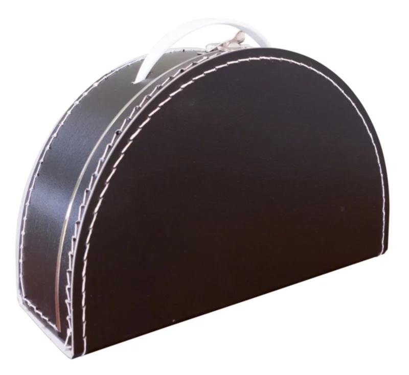 Halfrond zwart koffertje