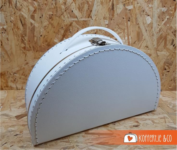 Halfrond wit koffertje