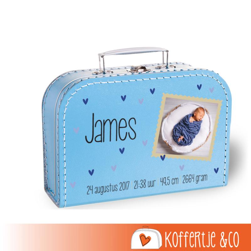 Geboortekoffertje met foto Baby