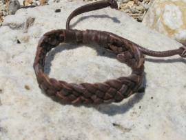 LEDEREN ARMBAND, Dark brown