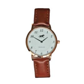 Horloge Paard Bruin