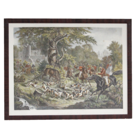 Engelse jachttafereel 19e eeuw