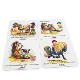 Thelwell Pony Onderzetterset 4 stuks