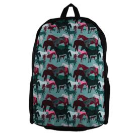 Schooltas Camouflage Paarden