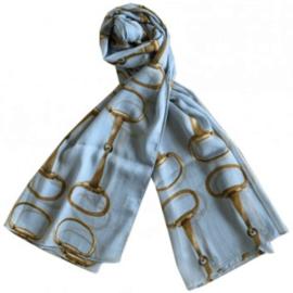 Sjaal Trensbitten Paard - Baby Blauw