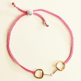 Armband Bit Friendship - Roze, Zilver/Goud