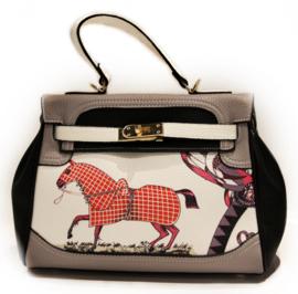 Handtas met Paard - Grijs