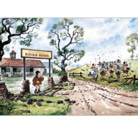 """""""Willowbrook Riding School"""" Thelwell Kaart"""