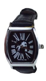 Horloge Springpaard Zwart
