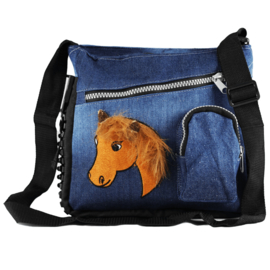 Magic Jeans Tas Paardenhoofd met Pluche Manen