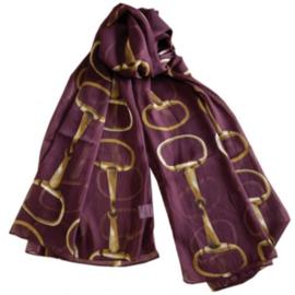 Sjaal Trensbitten Paard - Cherry