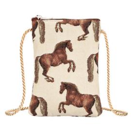 Gobelin Smart Phone Tasje Paarden