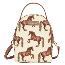 Gobelin Mini Rugtas Paarden