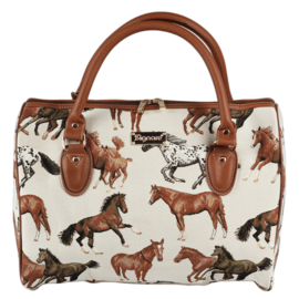 Grote Handtas - Rennende Paarden