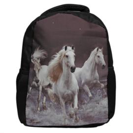 Kinder Rugzak Rennende Witte Paarden