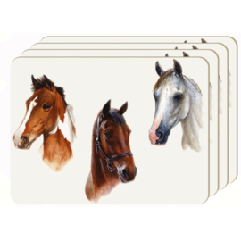 Placemats Portret 3 Paarden