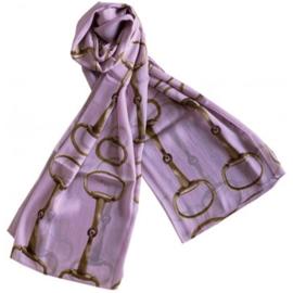 Sjaal Trensbitten Paard - Lila