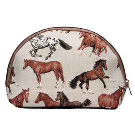 Make-up Tas Paarden Gobelin